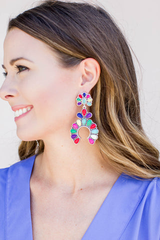 Keri Blossom Earrings - Multi - A Cut Above Boutique