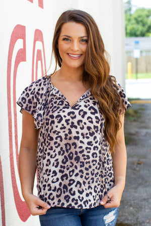 Give It Away Leopard Blouse