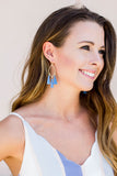 Quatrefoil Fringe Earring (Multiple Colors)