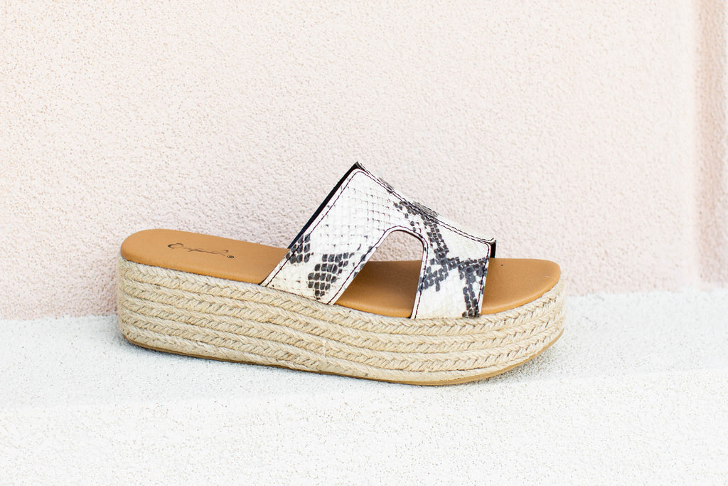 Snakeskin Platform Sandals - A Cut Above Boutique