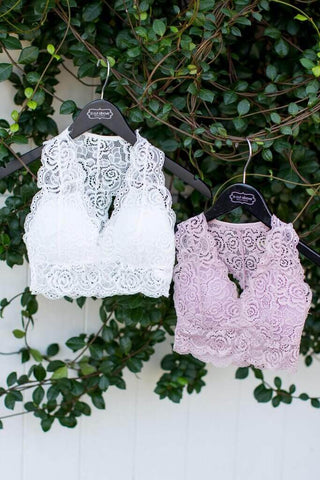 One Size Padded Lace Bra - A Cut Above Boutique