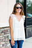 Just A Dream Lace Top - Ivory - A Cut Above Boutique