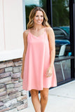 Right Cut Scallop Dress - Coral