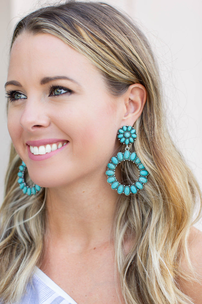 Make Moves Turquoise Earring - A Cut Above Boutique