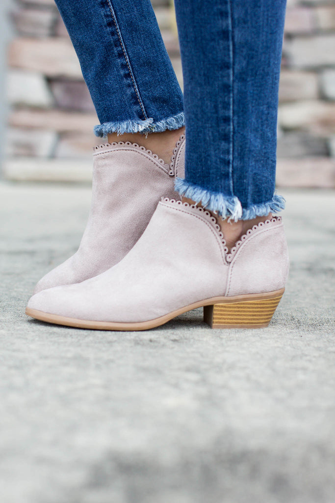 Oh So Sweet Scallop Bootie - A Cut Above Boutique