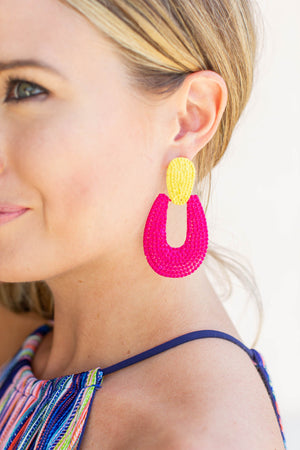 Bold + Bright Dangle Earring - A Cut Above Boutique