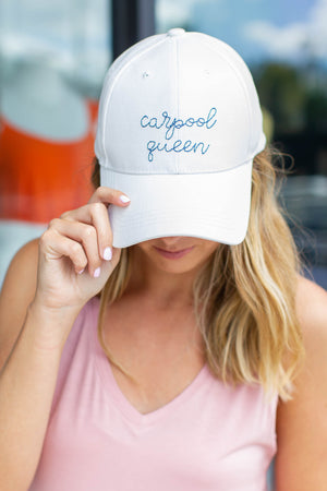 Carpool Queen Embroidery Hat - A Cut Above Boutique