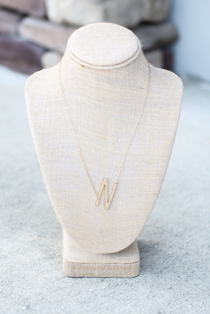 Initial Necklace (Letter Choices) - A Cut Above Boutique