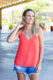 Take It Scallop Tank - Coral