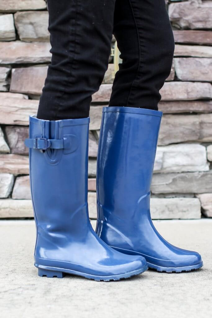 Rain Boots - Blue - A Cut Above Boutique