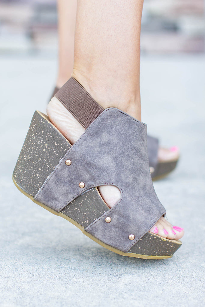 City Of Dreams Wedge - Mocha - A Cut Above Boutique