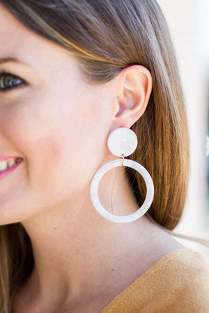 Drop It Acrylic Earring - Ivory - A Cut Above Boutique