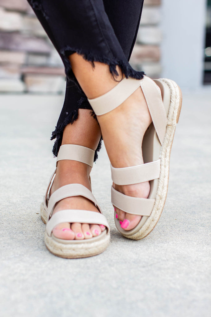 Made For You Sandal - Beige - A Cut Above Boutique