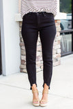 Black Frayed Hem Skinny Jean - A Cut Above Boutique