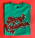 Merry Christmas Leopard Tee - A Cut Above Boutique