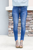 Skip It Frayed High Rise Jean - A Cut Above Boutique