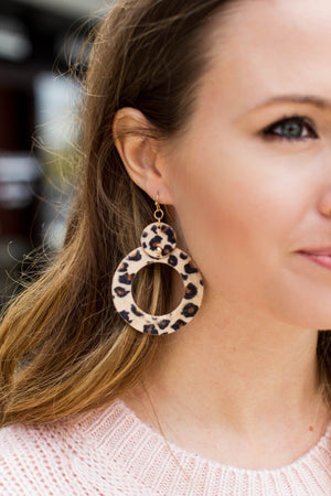 Like It Or Not Leopard Leather Earring - A Cut Above Boutique