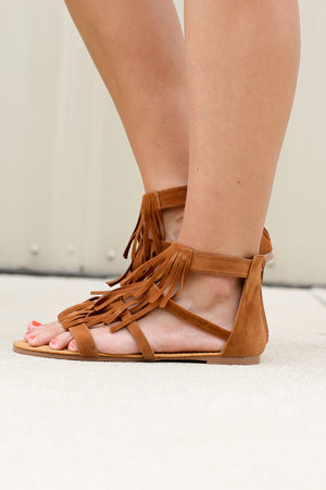 Gladiator Fringe Sandal - A Cut Above Boutique