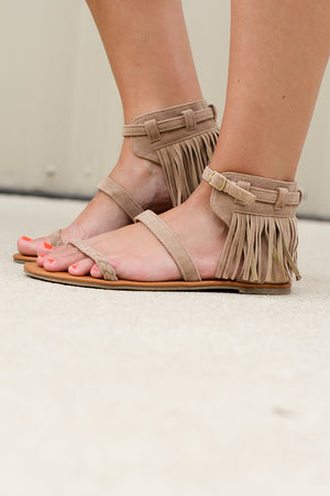 That's A Wrap Fringe Sandal - ShopACutAbove