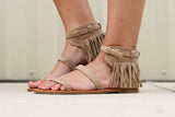 That's A Wrap Fringe Sandal - A Cut Above Boutique