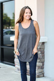 Can Do Tank - Charcoal - A Cut Above Boutique
