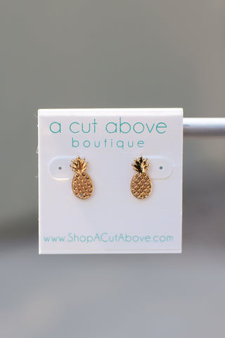 Pineapple Stud Earrings - A Cut Above Boutique