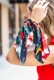 Scarf Scrunchie - Navy Multi Floral - A Cut Above Boutique