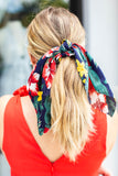 Scarf Scrunchie - Navy Multi Floral