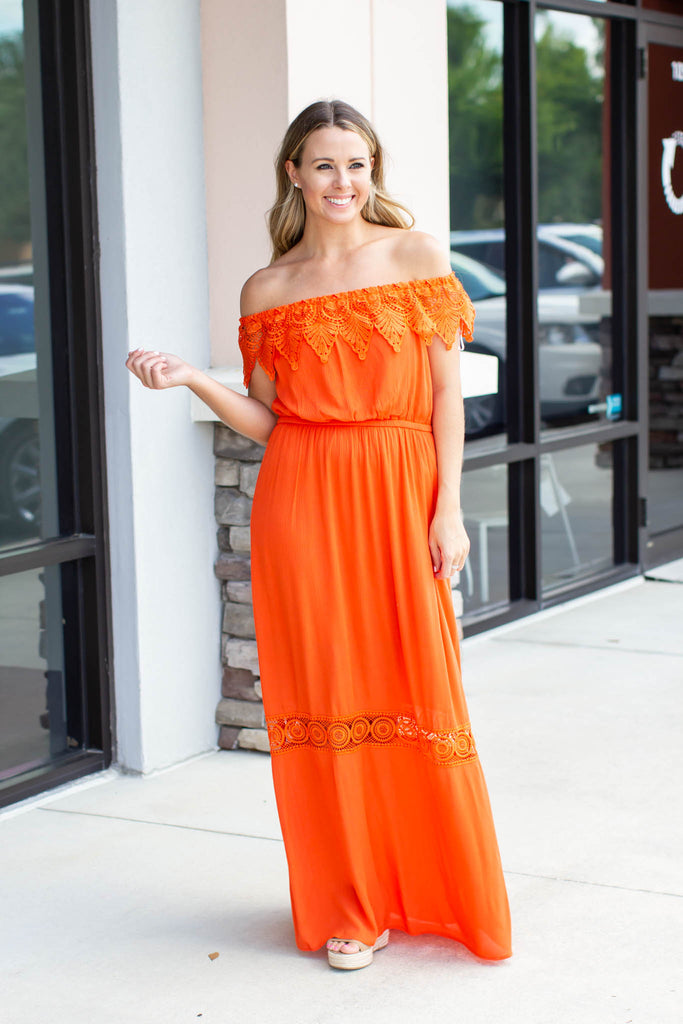 Because I Like You Maxi Dress - Orange - A Cut Above Boutique