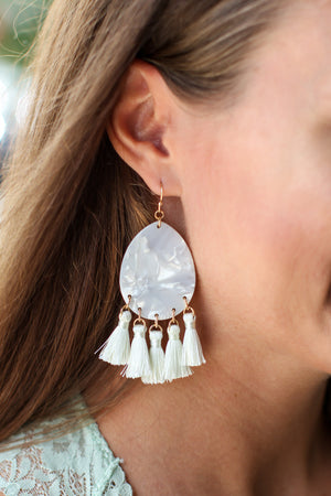 Take Me There Acrylic Earring - Ivory