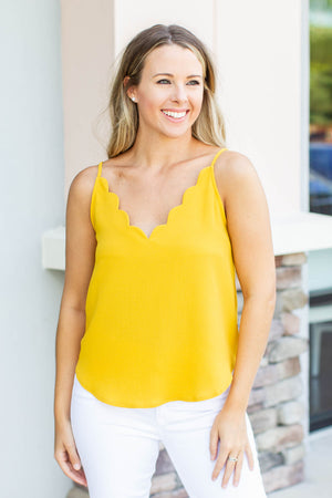 Scallop To Heart Tank - Marigold