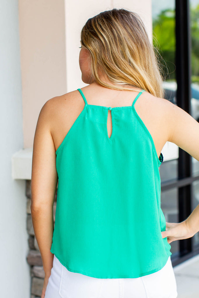 Fix Your Halo Scallop Tank - Kelly Green - A Cut Above Boutique