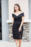 Show Some Shoulder Dress - Black - A Cut Above Boutique