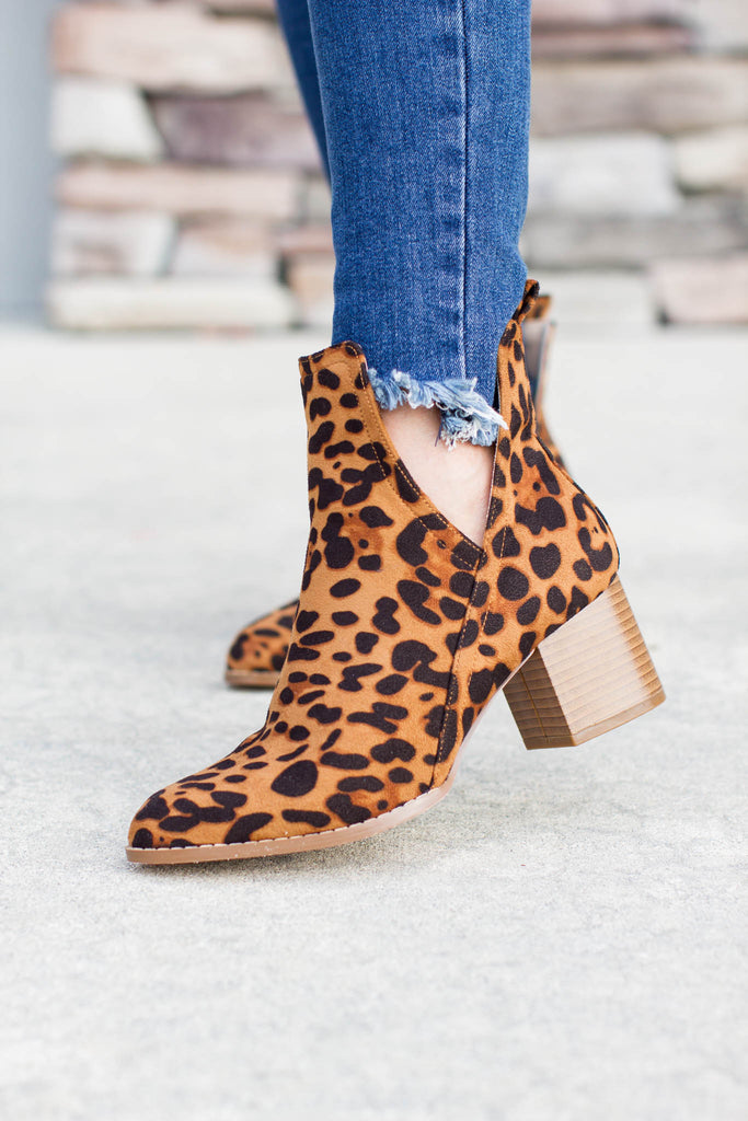 Leopard Bootie - A Cut Above Boutique