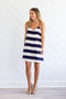 So Nauti Shift Dress - Navy + Ivory