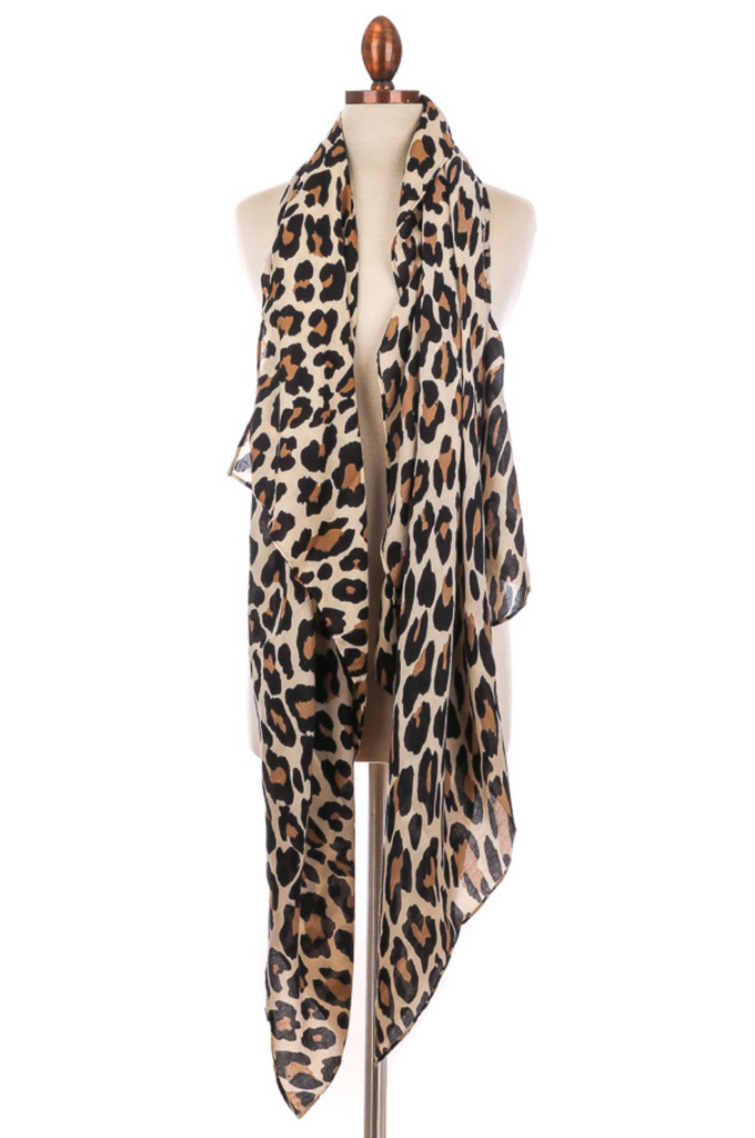 Essential Leopard Scarf - Ivory - A Cut Above Boutique
