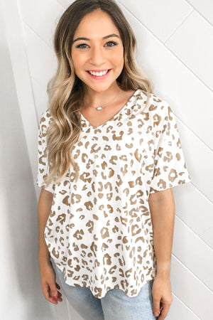 All My Love Leopard Top - Sand