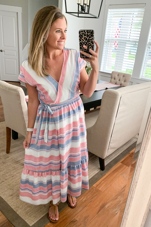 Prim Rose Wrap Dress