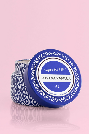 Havana Vanilla Printed Travel Tin, 8.5 oz - A Cut Above Boutique