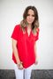 Around We Go Blouse - Red