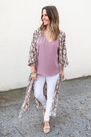 Snakeskin Duster Kimono - A Cut Above Boutique