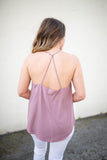 Mulled Wine Tank -Mauve - A Cut Above Boutique