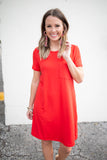 Weekend Warrior T-Shirt Dress - Red - A Cut Above Boutique