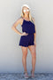 Next Up Scallop Romper - Navy