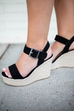 Black Espadrille Wedges - A Cut Above Boutique