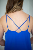 Take It Scallop Tank - Royal Blue - A Cut Above Boutique