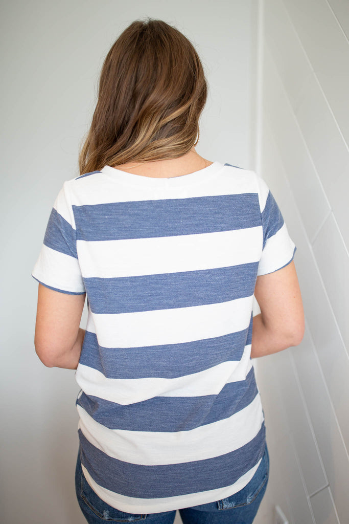 Knot So Bad Top - Blue - A Cut Above Boutique