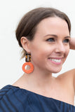 Walk On Tortoise Earring - Coral - A Cut Above Boutique