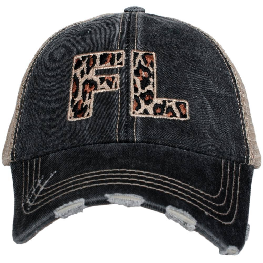 FL Leopard State Hat - A Cut Above Boutique