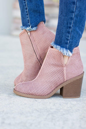 Not So Blush Bootie - A Cut Above Boutique